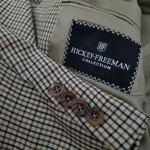 Hickey Freeman Wool Sport Coat Blazer Jacket